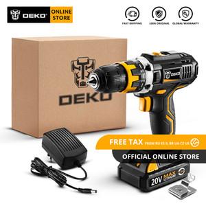 Originale Drill DEKO GCD20DU2 20V MAX cordless cacciavite elettrico agli ioni di litio Mini Power driver a velocità variabile LED Standard Set