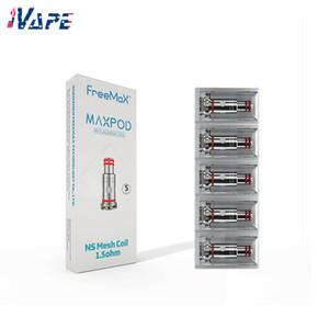 FREEMAX Maxpod NS Mesh chefs Bobines 1.5ohm / 1.0ohm avec Bobines de remplacement coton bio pour Maxpod Pod Kit 100% Original