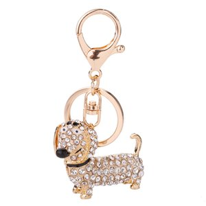 Cute Dog Shape Keychain Romantic Keychain for Party Wedding Gift Black Rose Gold Animal Zinc Alloy Key Ring YSK05