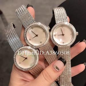 New Fashion Style femmes robe montre Shell Dial Lady montre avec Diamond Watch Bracelet en acier relogies de haute qualité pour les femmes