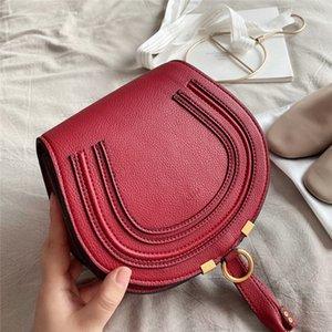 hotchloeLeather Flap HorseshoeBag Shoulder Messenger Bag Designer Luxury Hot Sale Women's Shoulder Bag Classic Gold