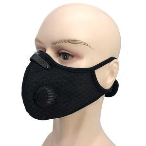 Radfahren Atemmaske Ventilgesichtsmasken PM2.5 Aktivkohlefilter Anti-Pollution Laufsport Maske Schutzmundschutz NEW GGA3530
