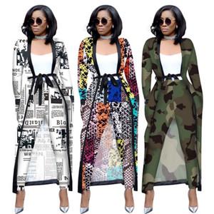 Full Set manches longues Cape Manteau Jupettes Pantalons Mode Sexy 2019 Automne Hiver Femmes Imprimer OL Deux Piece Tenues Survêtements 3535