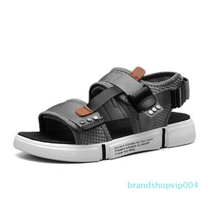 Горячая продажа-мода мужчины открытый пляж обувь Повседневная обувь мужчин Роман вьетнамки тапочки плоские Sorrynam