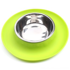 Pet Bowl Silicone Stainless Steel NonSlip Pets Feeder Food Water Bowl Durable Cat Supplies Pet Supplies Multi Function Dog Bowls for Cats