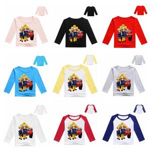 2020 Primavera de dibujos animados Fireman Sam Imprimir Niños bebés de manga larga T Shirts ropa de los niños camiseta de los niños niña de algodón de las tapas fd45 Tee vestuario