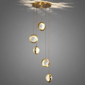 Modern Luxury Metal Crystal Pendant Lamp Restaurant Bedside Ceiling Light Hotel Villa Art Chandelier Fixture PA0652