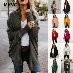 Women's Clothing Sweaters 2019 Autumn Knitwear Plus Size Solid Color Coats Outwear Fashion Hairball cardigan Femme winter