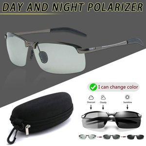 Brainart Men Photochromic Sunglasses with Polarized Lens for Driving Outdoor Sun Glasses Day Night Vision Driver's Eyewear K2