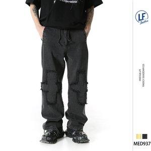 Lawfoo 2020 Sonbahar Ve Kış Yeni Ürünler Erkekler'S Popüler origional Retro Kesim Çürük Ortak Jeans MEN Günlük Pantolon'S Wear