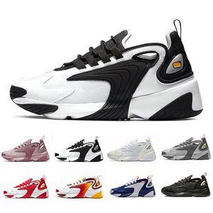Nike M2K Zoom Vela Branco-Preto Cinza Escuro para homens sapatilhas de corrida sapatos de esportes de ar 36-45
