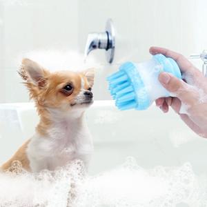 Evcil Köpekler Kediler Banyo Masaj Fırça Combs Köpek Aksesuarları 2 in 1 Silikon Tarak Kedi Köpek Masaj Duş Bakım Tarak