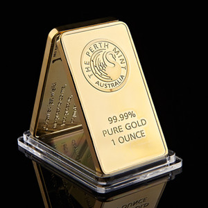 Die Perth Mint Bullion Bar Australien Gold überzogen Bar 24k Bullion Geburtstag Feriengeschenke Dekorationen Crafts