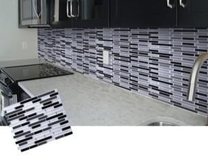 모자이크 자체 접착 타일 Backsplash에 벽 스티커 비닐 욕실 주방 홈 장식 DIY 벽 스티커 자체 접착제 3D 벽 타일 비닐