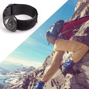 Portable Fashion Compass Outdoor Clip-On Watchband Hiking Gear Compasses GPS Nylon Band Bracelet With Closure Hot Sale Dropship