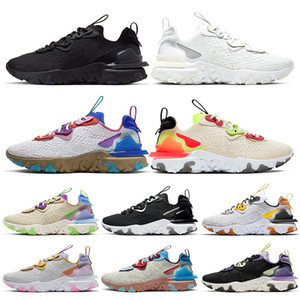 Nike React Vision React Element 55 Off White Atacado estoque x Mens Mulheres Tênis Triplo Preto Branco Branco Photon Dust Orange Top Quality tênis formadores