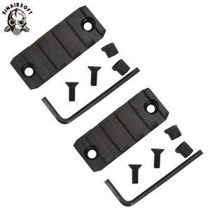 5 Slot Aluminium 2 Zoll Picatinny Weber-Schiene für KeyMod Begrenzungsscheibe Scope-Einfassungs-Unterseite Schwarz Dark Earth
