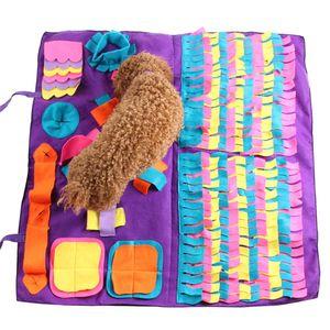Brinquedos Pet Dog Sniffing Encontrar Formação Alimentar Cobertor Tocar Brinquedos Dog Mat Para aliviar o stress enigma Sniffing Mat Pad