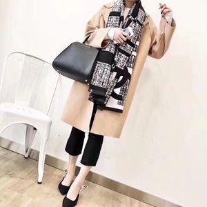 Cashmere Scarf dupla face impressão longo xale por Mulheres Melhor clássico Qualidade Quente Cachecóis Pashmina lenço preto e branco