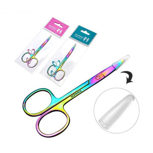 New Colorful Stainless Steel Eyebrow Scissor False Eyelash Hair Trimming Beauty Makeup Nail Dead Skin Remover Scissor Makeup Tool Maquillage