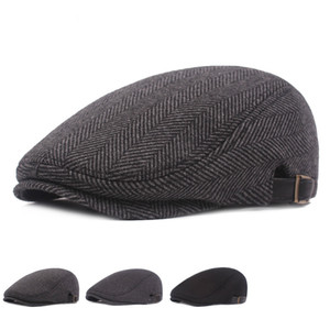 Erkek Erkek Düz Kap Bere Eğlence Weman Newsboy Ayarlanabilir Nefes Şapka Kış Chapeau Gentleman Klasik Retro Sonbahar Kemik