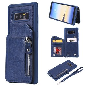 For Samsung Galaxy Note 8 Case Zipper Humanized Card Slot Design Cover Double buckle Stand shockproof Mobile Phone Cases