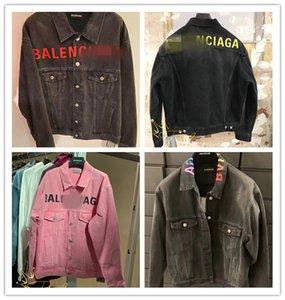 bb alta calidad superior Vetements destruido lujo de diseño Denim Jacket Hombres Mujeres Streetwear vaquero para hombre de las chaquetas Jean 3dBalenciaga