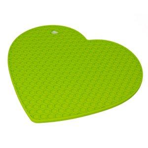 Verde Silicone favo de mel Isolamento Pad isolamento térmico e Bebida aperto Mat Arredondamento e amando Coração sheap Mats decoração de mesa