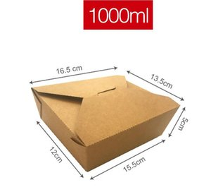 Fashion Square Kraft Paper French Fries Box Disposable Fried Snacks Popcorn Party Dessert Box Holder Promotion