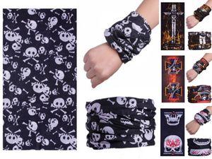 Costumi Maschere Qz0YC griglia all'aperto senza saldatura Versatile Magia Skull Skull Scarf maschera di teschio Sciarpa in bicicletta RidingWarm fazzoletto da collo di Halloween Fa # 887