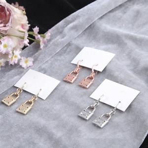 2020 pendientes para el anillo de oído Accesorios de la joyería pendiente cuelgan de bloqueo de la aleación linda mujer Moda Candado pendientes de gota aretes