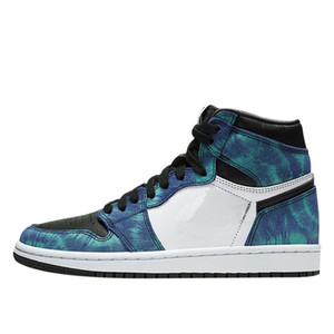 com Box 2020 Mens tênis de basquete Sneakers Tie-Dye azul por Homens Sports Shoes Formadores US7.5-12