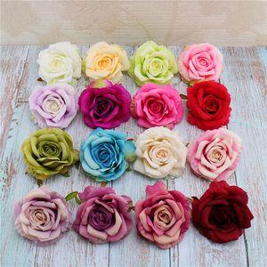 Künstliche Rose Flower Heads Seide dekorative Blume Party Dekoration Hochzeit Wand Blumenstrauß weiße künstliche Rosen Bouquet