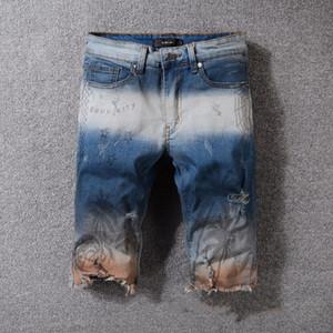 2020 Hot luxury Mens Brand designer Jeans Male Slim Fit Pencil Pants Casual Hip Hop biker d2 short jeans