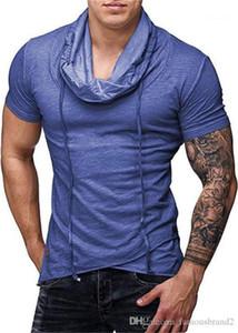 Moda Stil Gündelik Giyim Erkek Spor Desinger Tshirts Mürettebat Boyun Kısa Katı Renk Yaz Homme Giyim