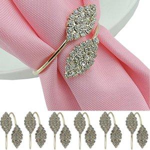 6pcs pearl flower rhinestone holder wedding banquet dinner napkin ring exquisite hotel restaurant dedicated mouth cloth napkin
