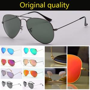Sonnenbrille original Glas Männer Luftfahrt Design Frauen UV400 G15 Sonnenbrille des lunettes de soleil frei Ledertaschen, Zubehör, Box!