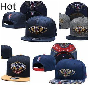 Новый Орлеан пеликаны мужчины Спорт шапки мужчины женщины молодежь НОП 2020 наводку серии 9FIFTY регулируемая snapback баскетбол шляпа черный