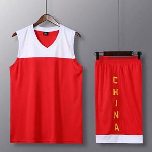 Basketball Servir costume clair Panneau de l'équipe chinoise E.U.A. équipe Mouvement Jersey Vitesse Do match formation Vêtements Imprimer