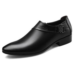 Mens Luxury Wedding Shoes Leather Elegant Business Shoes Mens Dress Shoes for Men 2020 Zapatos Plateado Hombre Schoenen Mannen