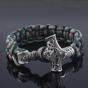 Jewely Moda Viking Axe Enrole Bangles Pulseiras Amulet Thor 2 Métodos de Uso Cosplay Jóias Homens Mulheres