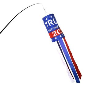 Banderas EE.UU. Trump de viento 4 estilos American National Jardín de la bandera de rayas Decoración Banner Banderas 20pcs LJJO7929