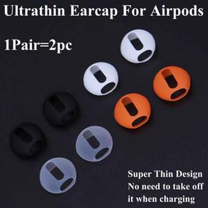 Для Airpods Супер Тонкий Протектор Наушников Earplug Cap Case Cover Ушные Наконечники Наушники Ультратонкие Для AirPods Беспроводные Наушники Bluetooth