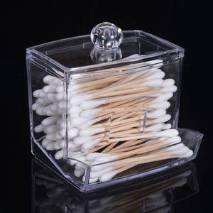 Astuccio in cotone trasparente Tampone in stoffa Astuccio per trucco cosmetico Caso di alta qualità Creativo in cotone acrilico Tamponi Titolare della scatola
