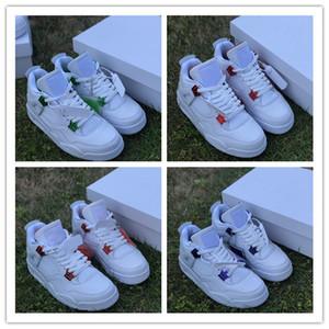 Melhor 4s 4S 4 Cores Vermelho Roxo low homens sapatos de basquetebol ténis sapatilhas masculinos 4S treinadores ao ar livre de alta qualidade Tamanho 7-13