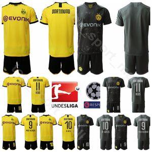 Боруссия Футбол 9 Paco Alcacer Джерси Set 2020 BVB 10 Гётце 11 Комплекты рубашка Марко Реус 15 Маты Хуммельс Футбол