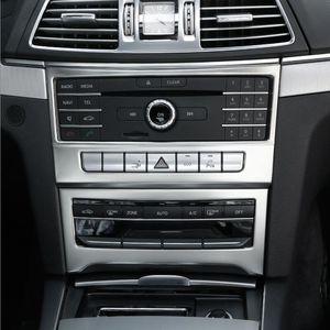 Chrom-Auto-Styling Perle Steuerung CD Platte Dekor-Abdeckung trimmt Aufkleber für Mercedes-Benz E-Klasse Coupe W207 C207 2014-2016 Zubehör