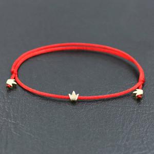 Copper Love Heart Crown star Shape Charm Bracelet Red Rope Thread String Bracelets For Men Women Jewelry Couple Bracelet