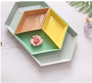 Nordic Wind Geometry Receives Free Combination Stitching Fruit Plate Snack Plate Creative Desktop Combination Jewelry Plate Tray