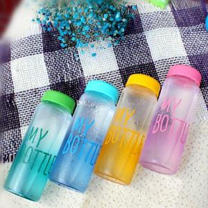 500 ml mode Ma Bouteille saine Tritan en plastique Garrafa fruits jus de citron bouteilles Sport En Plein Air tasse Pas Cher bouteilles D'eau